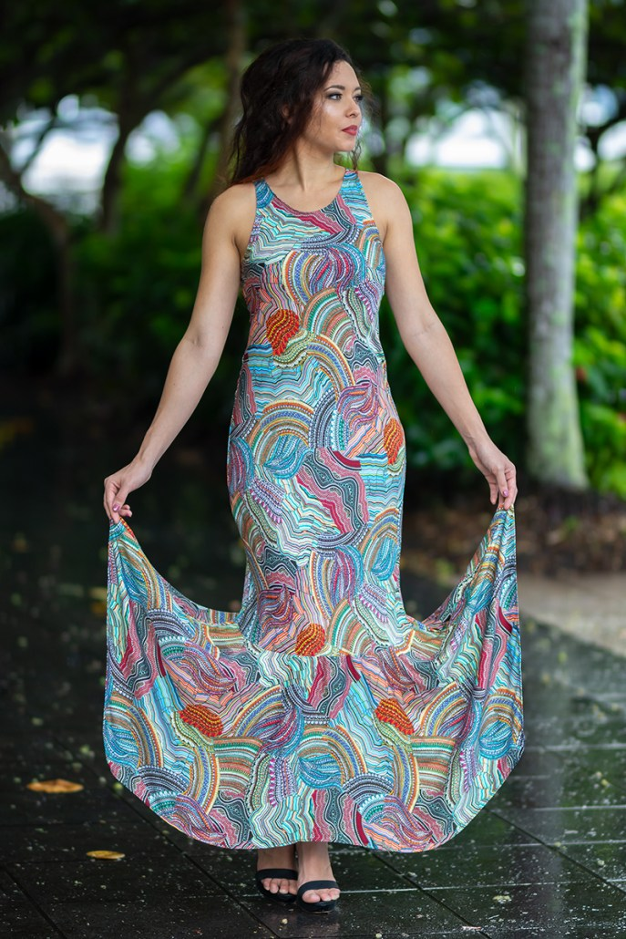 Phoenix Mermaid Dress in Messina