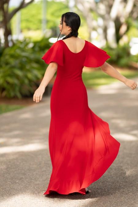 Return to Innocence Dress in Block Colours