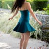 Juno Dulce Halter Dress in Teal