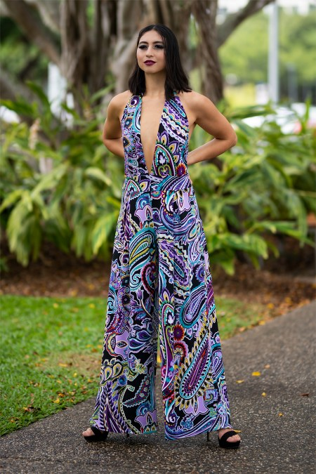 Moon Goddess Jumpsuit in Peta Paisley