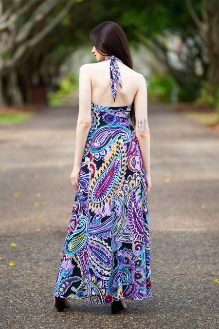 Juno Flared Maxi Dress and in Peta Paisley