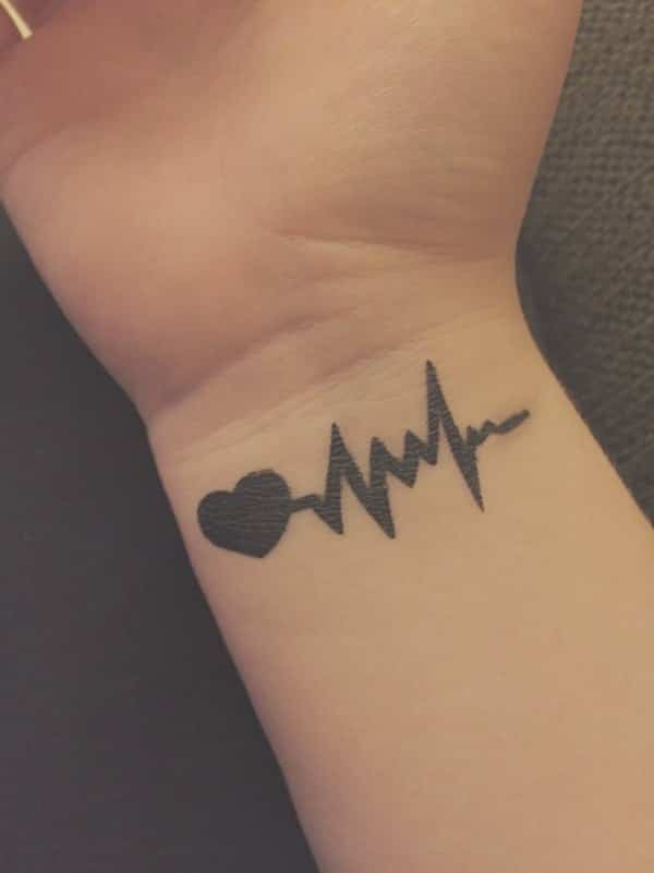 55 Amazing Heartbeat Tattoo Designs You Should Consider Wild