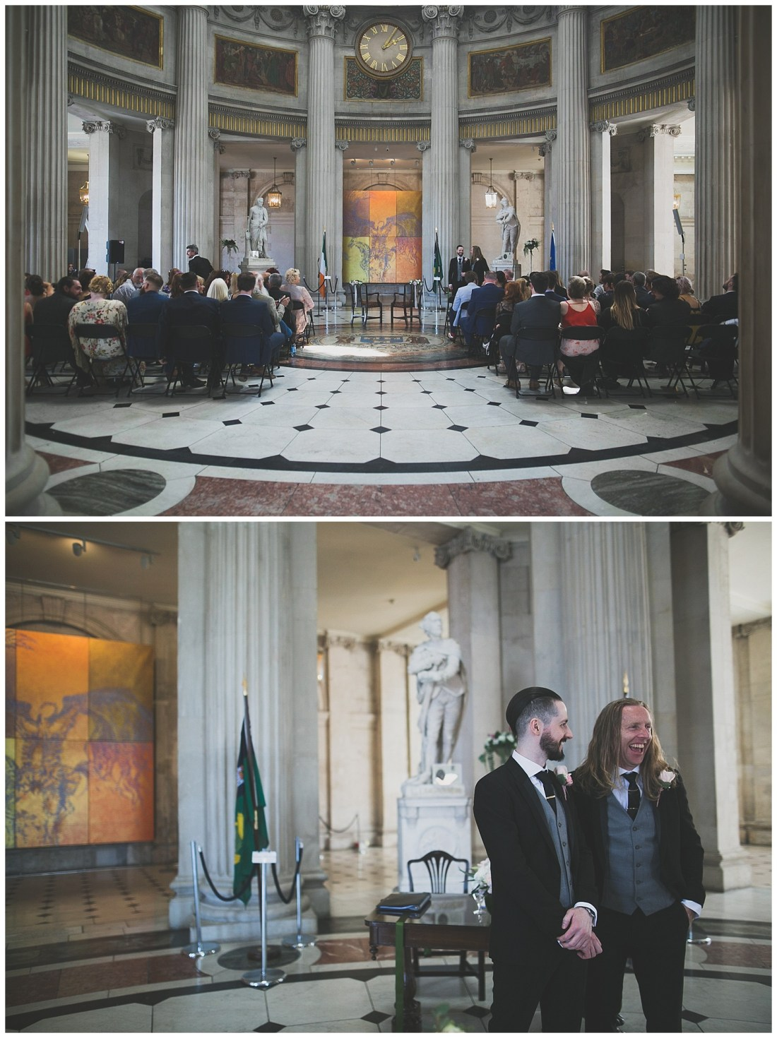 Groom and best man at Dublin City Hall