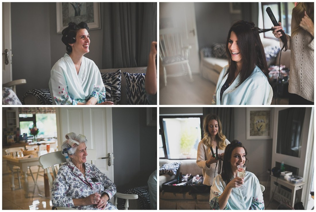 Hair and makeup with the bridal party