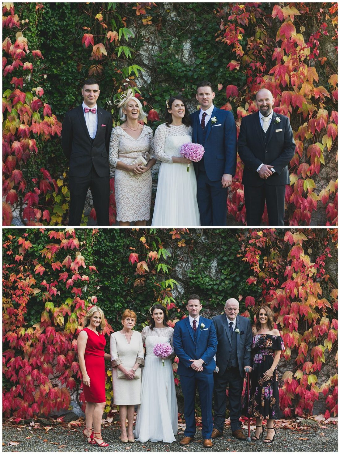 Natural and relaxed family wedding portraits