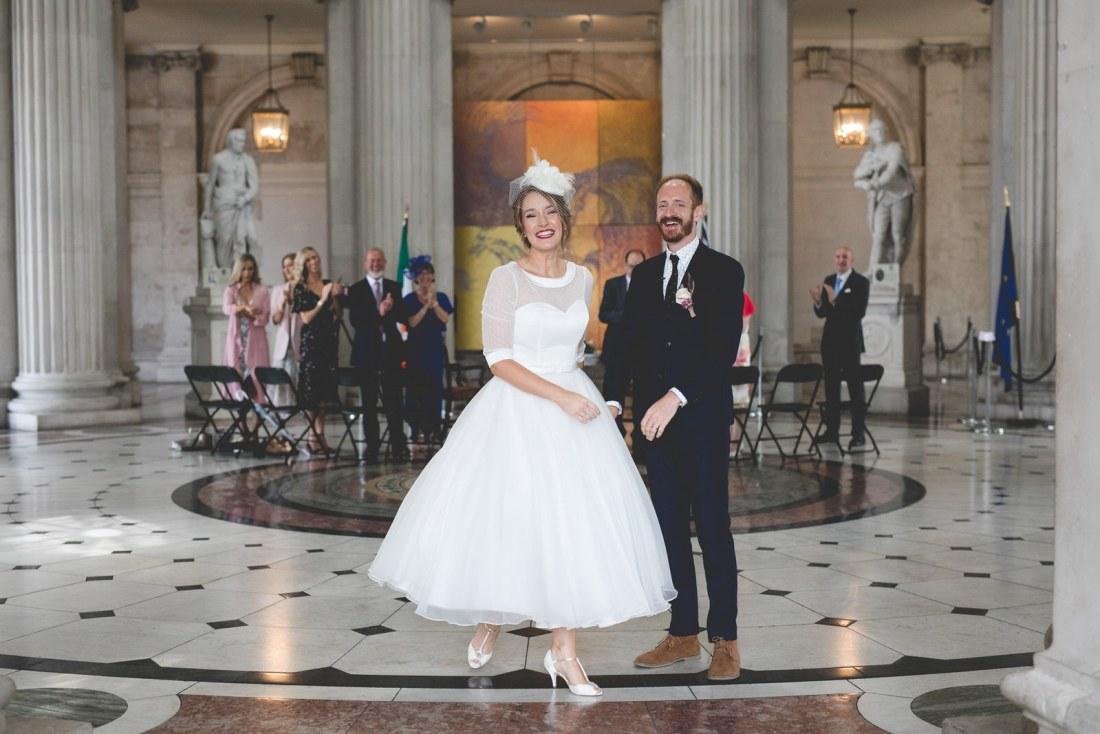 City hall wedding in Dublin