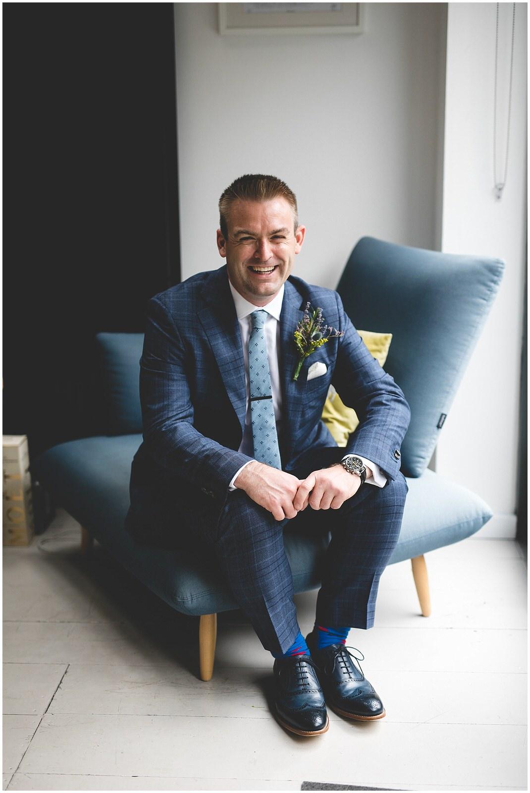Navy blue stylish Louis Copeland suit