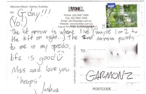 postcard AU 2