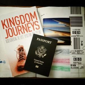 Kingdom Journeys book, passport and travel journal