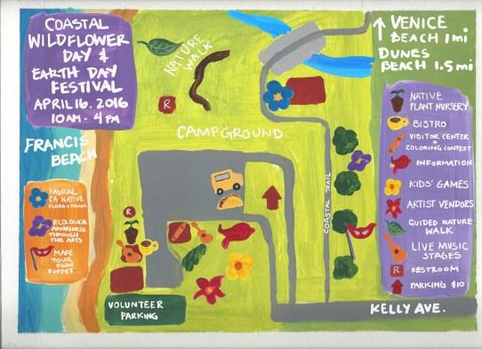Francis Beach event map
