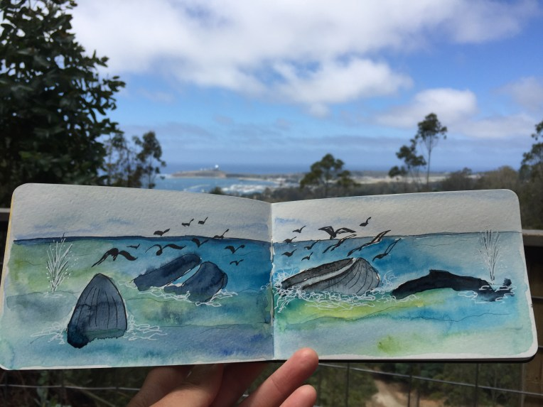Whales remembered from Quarry Park view point