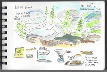 Day Four: Waking Up at Yosemite Creek