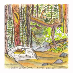 "Indian Canyon Creek - 8""x8"" giclee print"