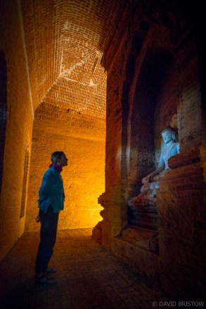 We dare ourselves into monastic cells stuffed with treasured Buddhist artifacts