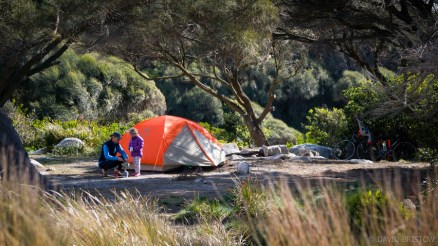 Sloop Lagoon is just big enough for our compact tent