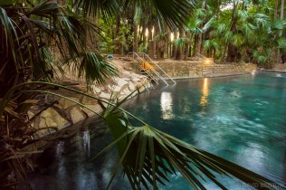 plonk yourself in the deep pools at Mataranka Hot Springs