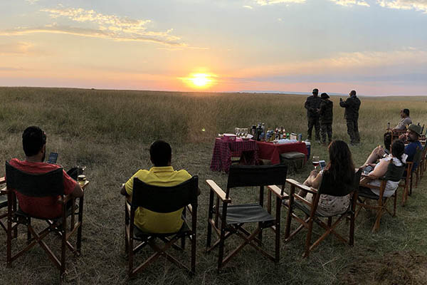 Relish your favourite drink with the savannah sunset