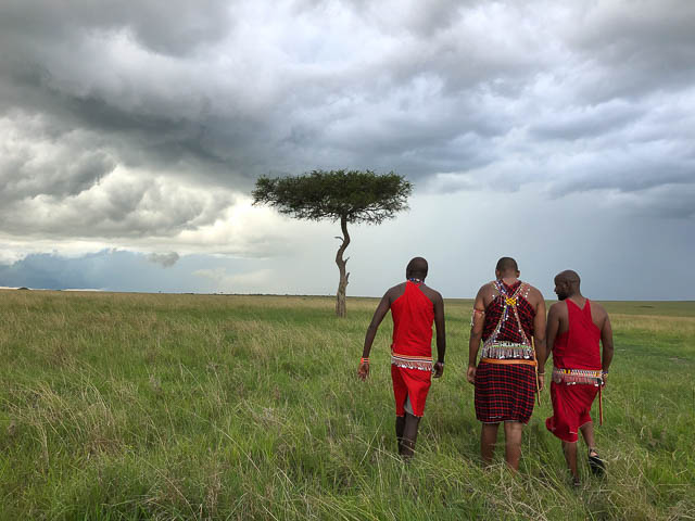The maasai guides are your guides and guardians during safaris