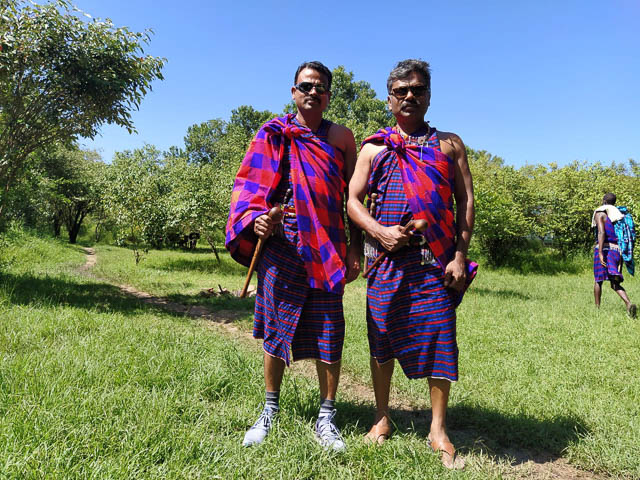 Our guests dressed as Maasais