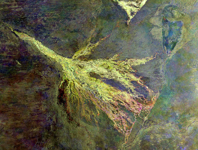 Okavango from space