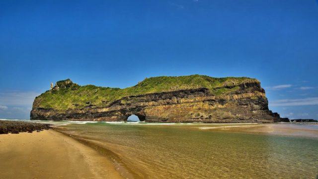Coffee Bay's famous 'Hole in the Wall' mountain
