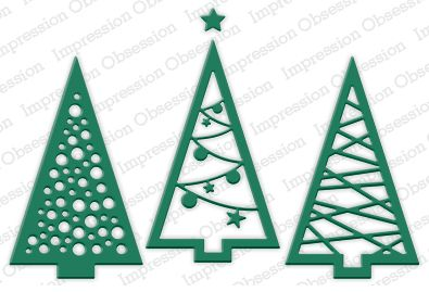 Three Christmas Trees Die Cutting Set Wild Warehouse