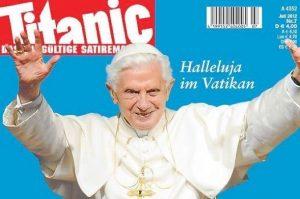 Presserat rügt Titanic wegen Papst-Titelbild!