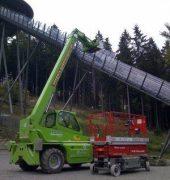 Umbauarbeiten an der Mühlenkopf-Schanze im Gange