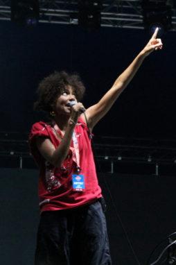 Nneka im Interview beim Sziget-Festival 2013 in Budapest
