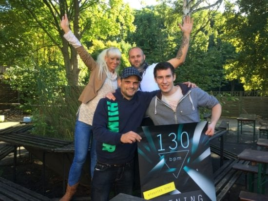 Das neue Team des 130bpm. Im Uhrzeigersinn: Nadine Mundus, Sebastian Pfromm, Frederic Nau, Lars Meyer