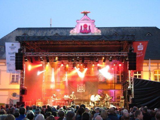 Die Bühne des Lippstädter Altstadtfestes