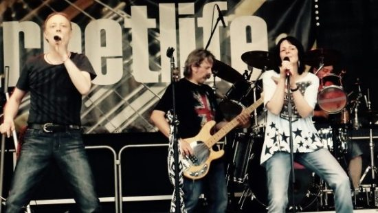 Die Rockband streetlife.