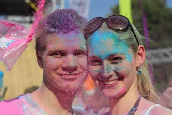 Holi-Festival und Bodypainting in Borken: Living colours!
