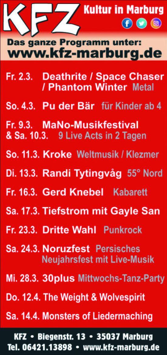 MaNo Musikfestival in Marburg - Gute Musik, gute Sache!