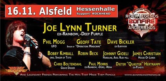 Bonfire – A Night With Rock Legends in Paderborn und Alsfeld abgesagt!
