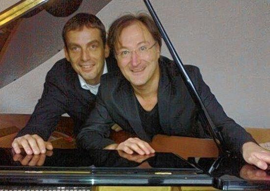 Denn tralala, so ist das Leben ... Ralph Dillmann und Gerd Kaufhold in Marburg