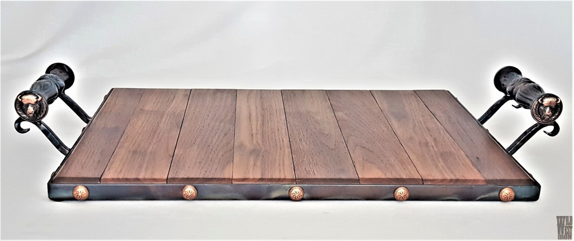 Buffalo Serving Tray with Iron Handles
