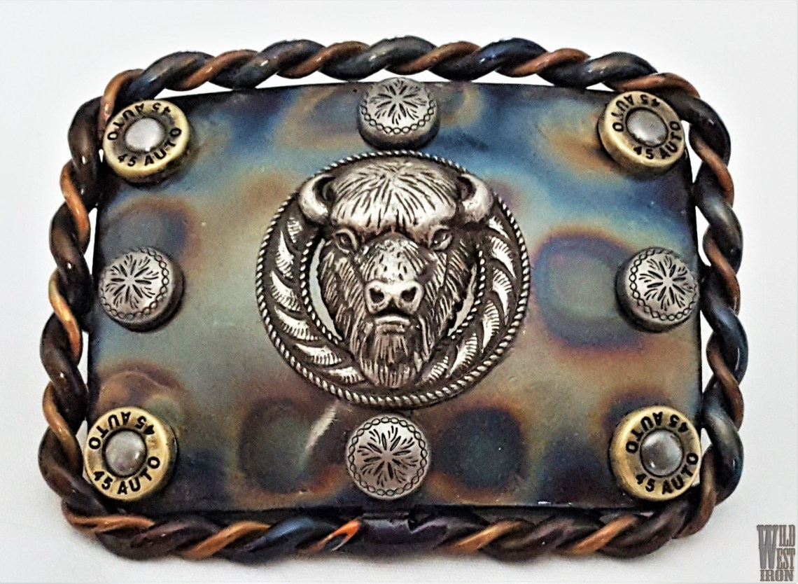 Buffalo Square Belt Buckle Variation Two