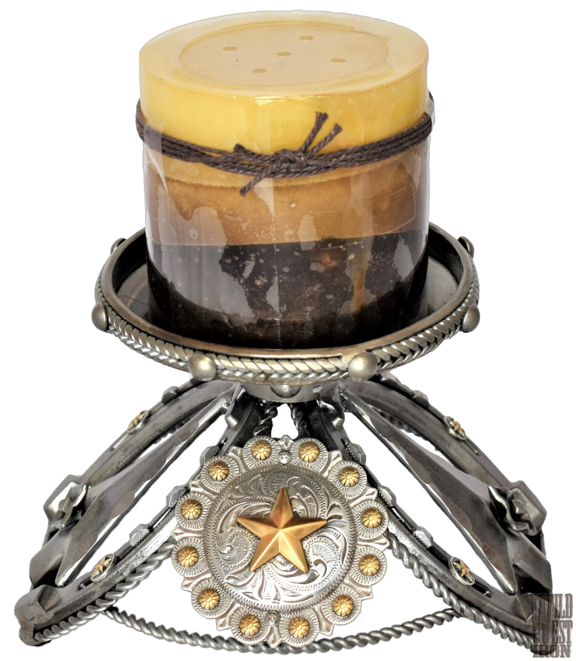 Gold Star Candle Holder View Two