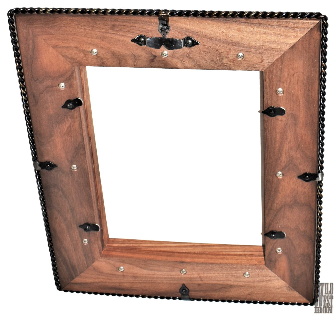 Walnut Picture Frame with Two Braids Back