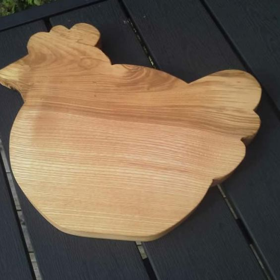 Hardwood Chicken / Cheese  Breadboard. Ash