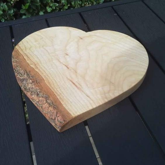 Heart Shaped Cheese / Breadboard. Ash
