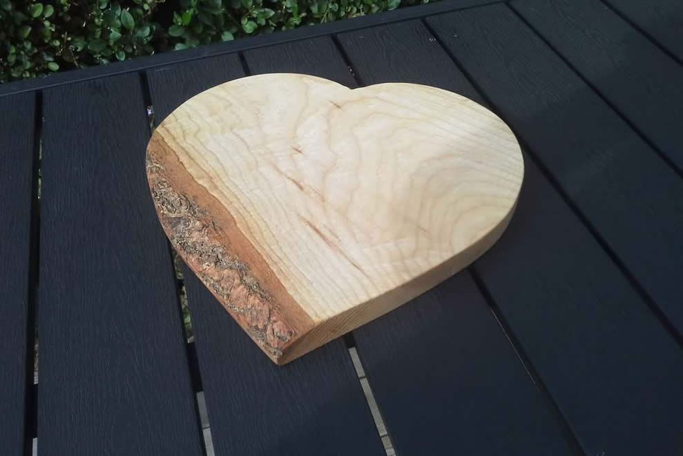 Heart Shaped Chopping Board Ash