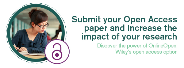 Submit your open access paper and increase the impact of your research | Discover the power of OnlineOpen, Wiley's open access option