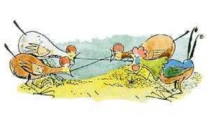 Die Hühner verschlucken die Korken