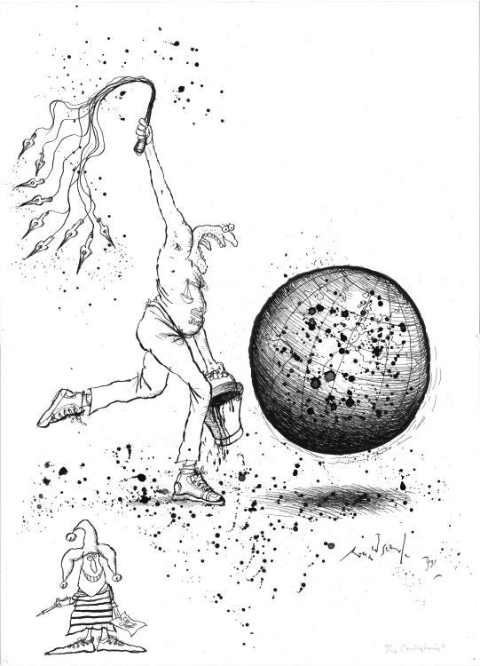 Ronald Searle (1920–2011), The Caricaturist, 1991, Wilhelm Busch – Deutsches Museum für Karikatur und Zeichenkunst