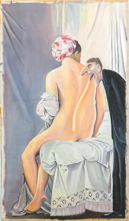 Ingres Rückenakt, o. J. Acryl auf Leinwand, kaschiert, 98 x 57 cm