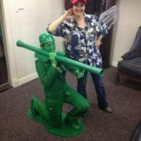DIY Green Army Man Halloween Costume