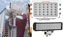 fire engine pole mounted scene lighting