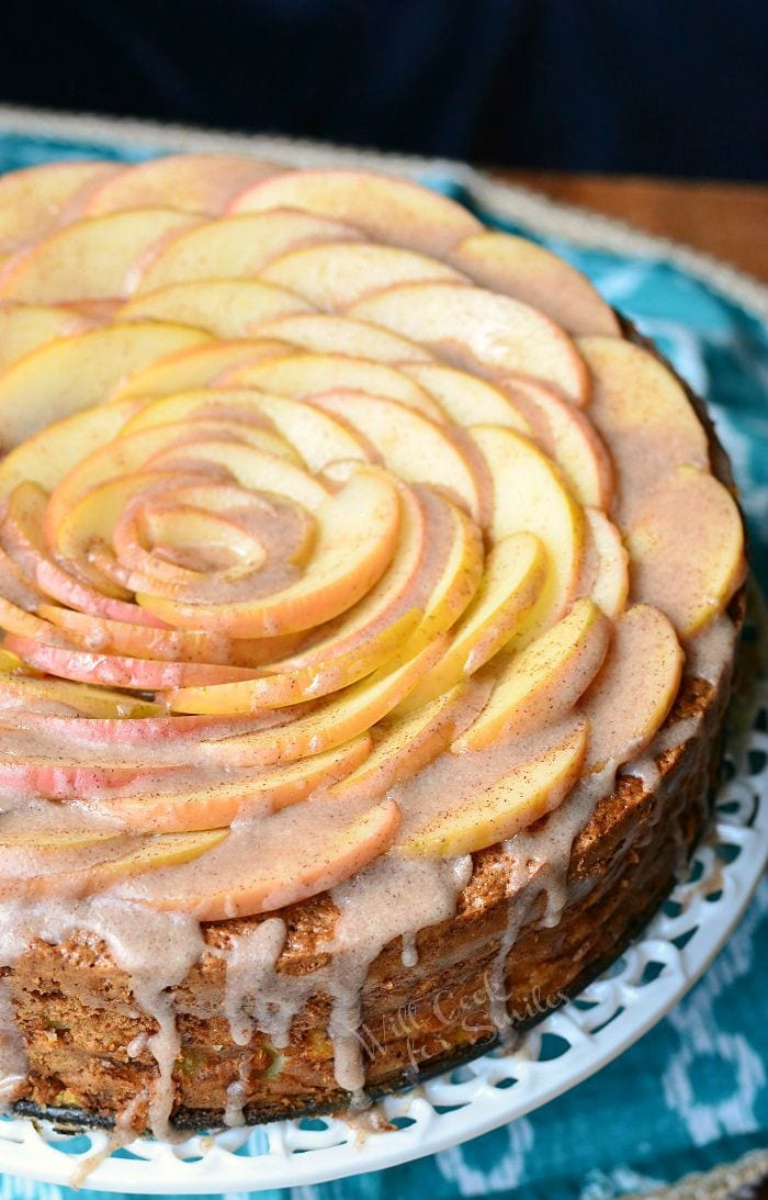 Cinnamon Glazed Apple Cake Will Cook For Smiles